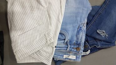Продам 3 брюки по 1 цене+ в подарок пояс сумка . Брюки Pull& Bear