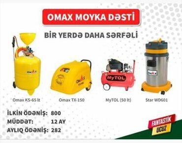 Digər xidmətlər - Azərbaycan: Moyka aparati kreditle ilkin odeniw 800 manat- 12 ay -ayliq