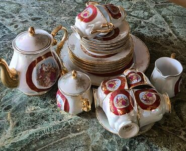 Чайный Сервиз Мадонна, Легенда, на 6 персон, ГДР, тонкий фарфор Extra