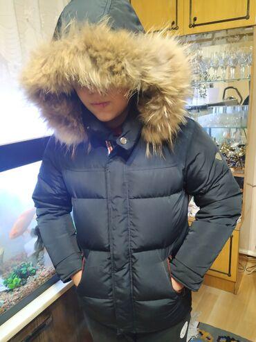двойка одежда в Кыргызстан: Очень теплый пуховик на холодную зиму,внутри флис, одевали совсем не