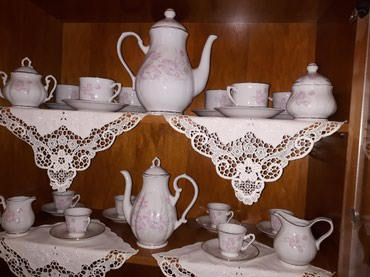 Set of dishes. pure porcelaine.More than 70 dishes served with tea and σε Nea Smyrni