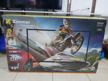 Zimmer 43 Sf-4325. ( 109cm) smart tv. 1il resmi zemanet. Yenidir ve