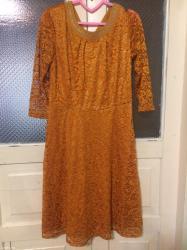 Платье гипюр-48 размер,с поясом в Сокулук