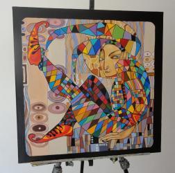 """аукцион картин в Кыргызстан: Картина """"Клоун"""", масло, холст 60х60, 250 USD. Больше картин смотрите в"""