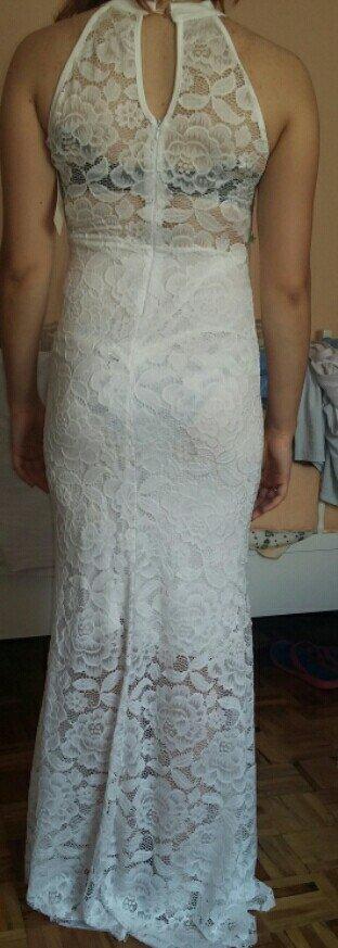 Prodajem novu, belu, cipkanu dugu haljinu u vel L. Isto je kao na - Belgrade