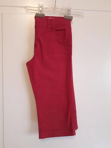 MONSOON 10-11Predivne pamucne pantaloneDivna zagasita crvena(ide ka