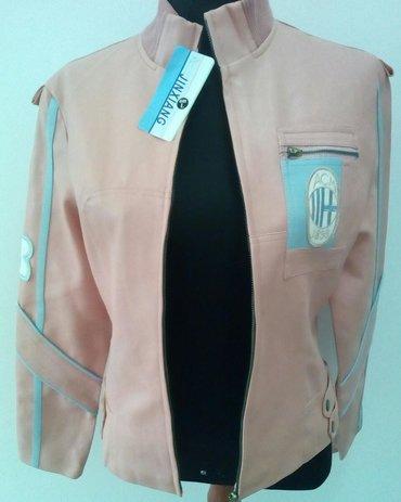 Roze jakna od vestacke koze, velicine M i L