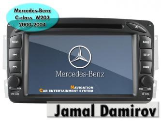 mercedes monitor - Azərbaycan: Mercedes benz c-class 2000-2004 w203 üçün dvd-monitor. Dvd-монитор для