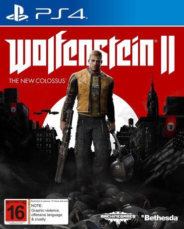 playstation 1 2 3 4 5 in Azərbaycan | DƏSTLƏR: Wolfenstein 2.PlayStation 4 Oyunlarının Və Aksesuarlarının zəmanətlə