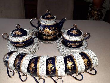 cay daslari satilir in Azərbaycan | QAB-QACAQ DƏSTLƏRI: Kobalt çay desti tecili satılır. 60 azn