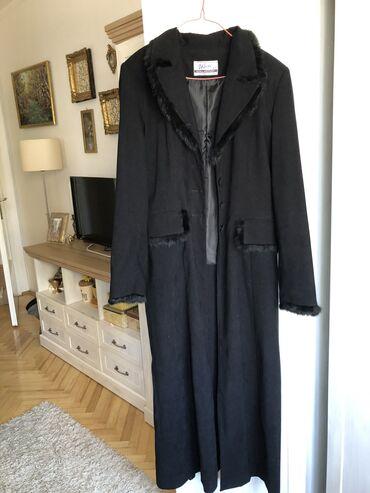 Sako italija zenski - Srbija: Zenski kaput SA PRAVIM KRZNOM. KAO NOV. XL velicina! Pise 44, ali za