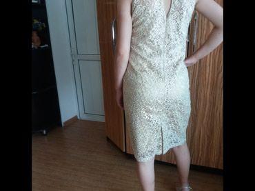 Продаю платья из дорогого гипюра с блеском бежевого цвета в Бишкек