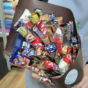 Букеты из шоколадок для радости ваших близких !