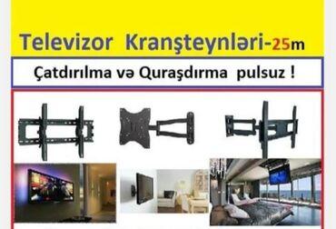 TV/video üçün aksesuarlar Bakıda: Televizor kraşteynləri. Hər növ televizor kraşteynləri. Catdırılma və