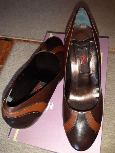Bez cipele - Srbija: Nove Paar-ove kozne cipela salonke,39 broj, niza stikla
