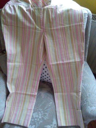 Pantalone za krupnije dame tricetvrt,materijal kao dusa,kao noveee - Sombor