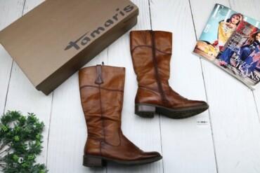 Личные вещи в Украина: Товар: Сапоги женские Tamaris, коричневые, размер 39, 00233.    Состоя