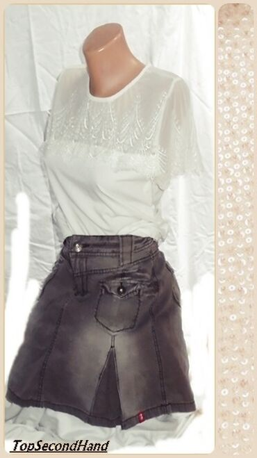 2.1.3. Esprit M mini suknja23.9.✼Esprit teksas mini suknja.Materijal