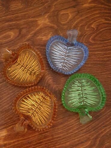 Розетки для варенья. Цветное стекло Богемия
