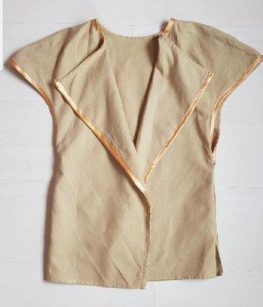 Braon farmerke - Srbija: Prsluk lan, pamukMoze kao elegantan dodatak, na suknju, farmerke