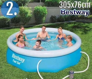 BW bazen 305x76cm na naduvavanje 9.300dinNadzemni bazen na naduvavanje
