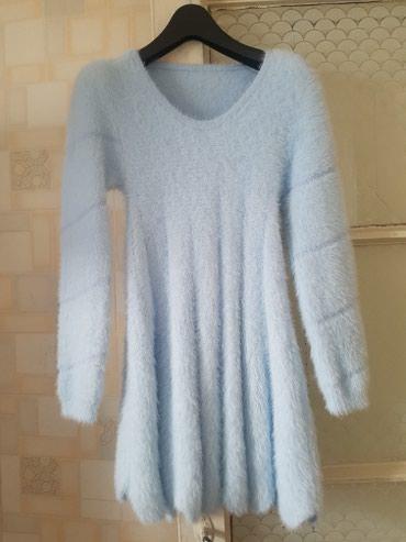 Платье голубое зимнее в Бишкек
