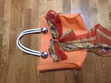 Narandzasta torba kao nova,masnu maramu mozete skunuti, lepa za plazu - Knic