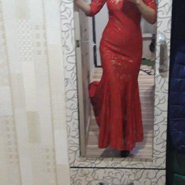 красное платье на свадьбу в Кыргызстан: Продаю платье. Одевала один раз на свадьбу. Очень красиво садиться
