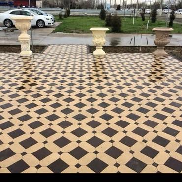цех по производства брусчатки в Кыргызстан: Брусчатка тротуарной плитка Услуги Доставка Укладка любой сложности