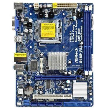 видеокарты pci express x16 3 0 в Кыргызстан: Продам материнскую плату 775 сокет\/Intel G41/ICH7, VGA + PCIe x16