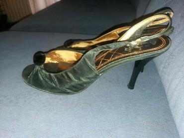 Crne sandalice. Visina stikle 7cm. Broj 39. - Jagodina
