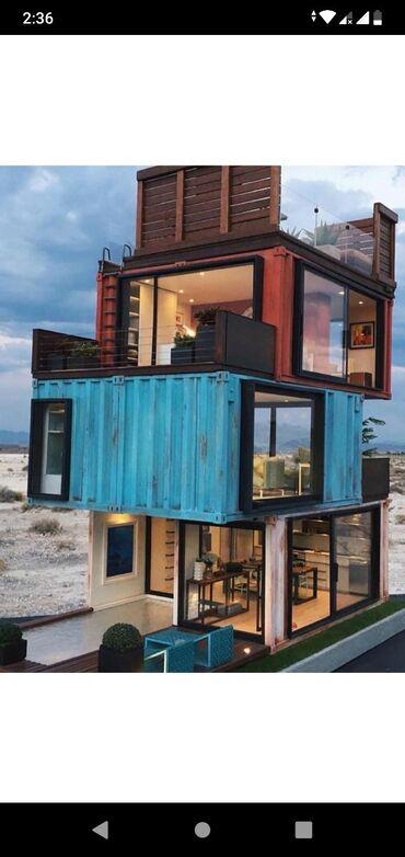 Дом из контейнера.  Строительство дома. Строительство домов. С ремонто