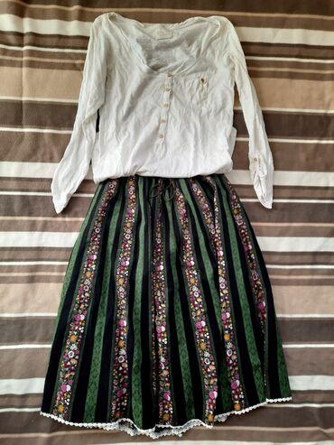 Komplet Zara bluza i Duga Suknja sa radom. Cena je za obadve