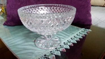 Kristalna vaza nova za voce itd..visina..15..precnik 20cm.. - Kraljevo