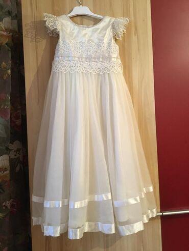 Детский мир - Александровка: Белое бальное платье Размер : на 7 лет