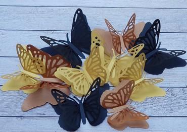 декор бишкек цены в Кыргызстан: Бабочки. Бумажные бабочки. Бабочки из бумаги. Декор из бумаги. Декор