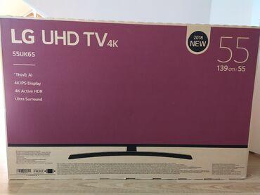 stekljannuju podstavku dlja tv в Кыргызстан: Телевизор LG 55UK65 UHD TV 4K, диагональ 139 см, Smart TVРазбит