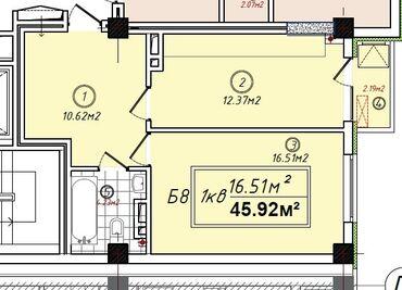 бипопка ком в Кыргызстан: Продается квартира: 1 комната, 46 кв. м
