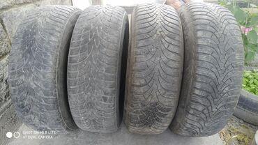 Продаю шины 4 штуки с дисками ( зима, на Мерседес 124 кузов)