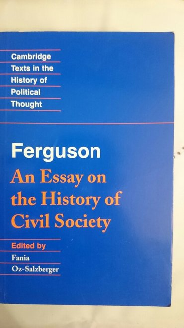 Bakı şəhərində Ferguson - an Essay on the History of Civil Society