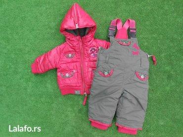 Dečije jakne i kaputi | Becej: Nekorisceno - dirkje termo jakna i pantalone za devojčice - 3-5 meseci