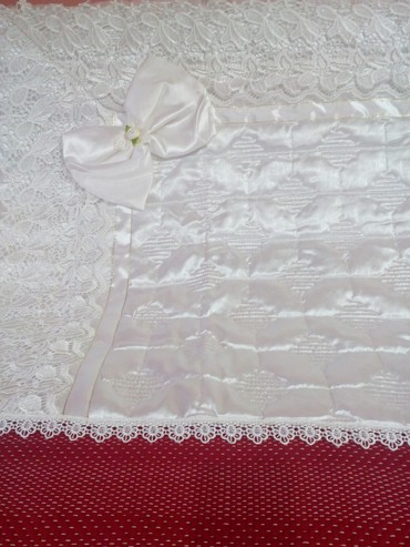 Prelep beli letnji pokrivac za novorodjence 67× 67 cm, idealan i kao - Novi Pazar