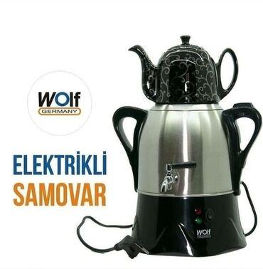 somovar - Azərbaycan: Wolf elektrikli somovar. Tam zemanetli mehsul.Rayonlara ve metrolara