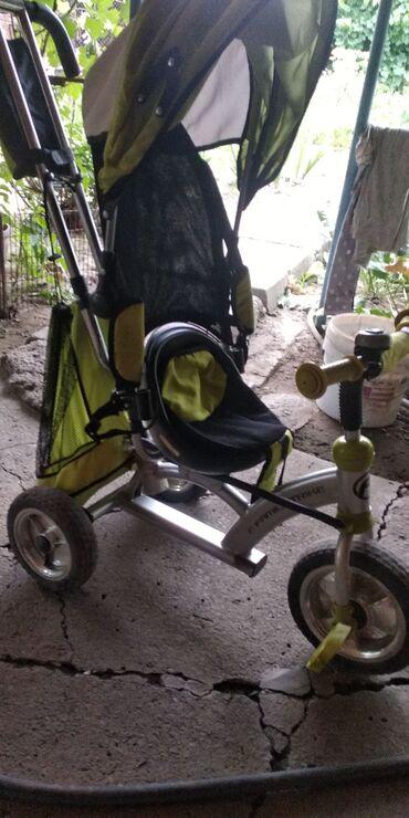 велосипед с детской коляской в Кыргызстан: Велосипед- коляска. Состояние близкое к идеальному. Сиденье крутится