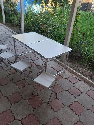 сколько стоит йоркширский терьер в Кыргызстан: Складной стол(чуть бракованный, столешница разбита при