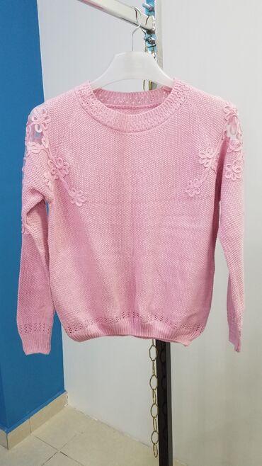 Новый турецкий свитер, на наш размер 42-44. Х/б с люриксом, сеточка на