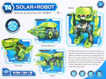 Развивающий конструктор на солнечных батареях 4 в 1 Динозавр