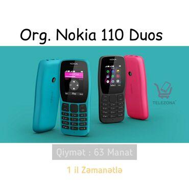 lg duos в Азербайджан: Nokia 110 Duos Original 1il Zəmanətli