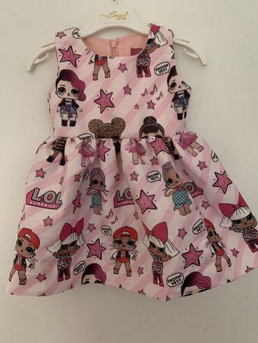 Za decu - Srbija: Haljina za devojcice Vel.86 Jednom obucena  TMV