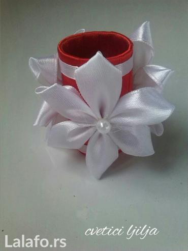 Komplet od 12 prstenova za salvete i ukras  za svecu    - Loznica - slika 2